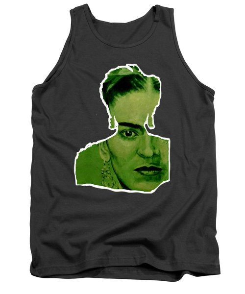 Frida Kahlo - Between Worlds - Green Tank Top
