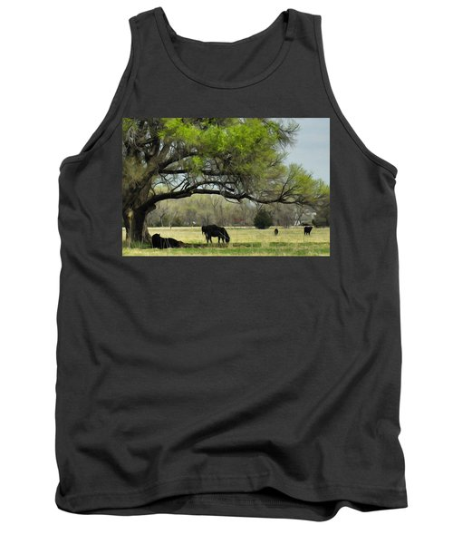 Tank Top featuring the photograph Shady Rest by Bill Kesler