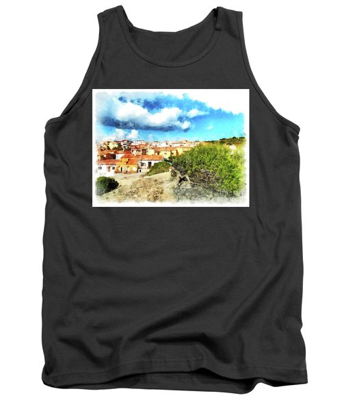 Arzachena Landscape With Clouds Tank Top