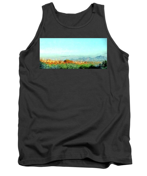 Arzachena Landscape With Mountains Tank Top