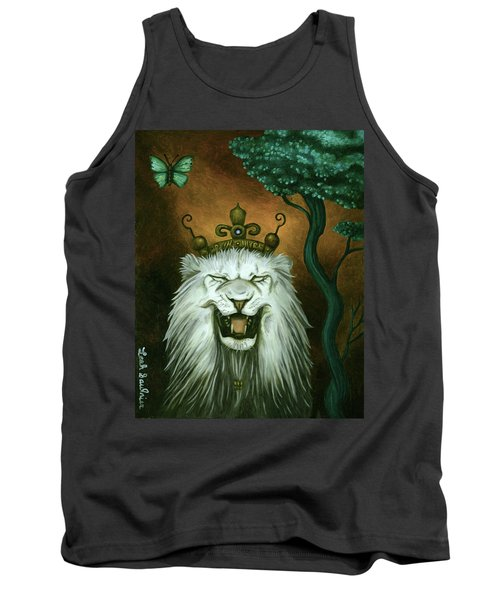 Tank Top featuring the painting As The Lion Laughs by Leah Saulnier The Painting Maniac
