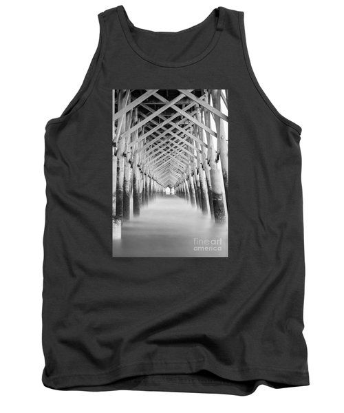 As The Water Fades Grayscale Tank Top by Jennifer White