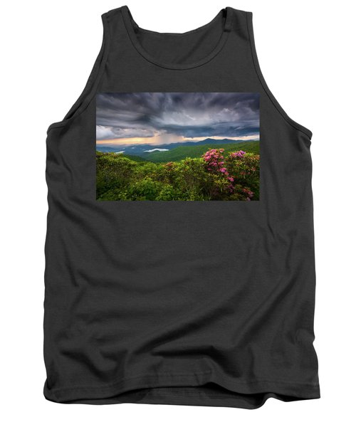 Asheville North Carolina Blue Ridge Parkway Thunderstorm Scenic Mountains Landscape Photography Tank Top