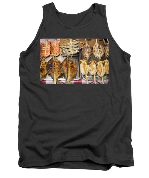 Asian Grilled Barbecued Seafood In Kep Market Cambodia Tank Top
