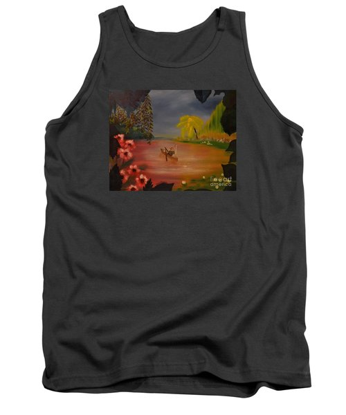 Tank Top featuring the painting Asian Lillies by Denise Tomasura