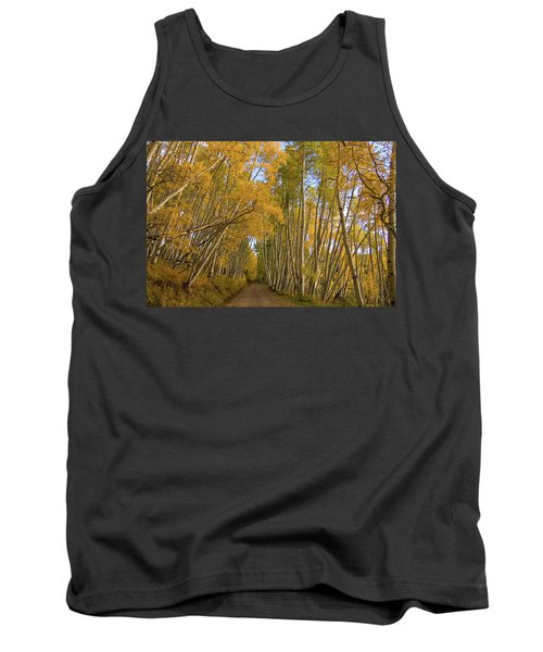 Tank Top featuring the photograph Aspen Alley by Steve Stuller