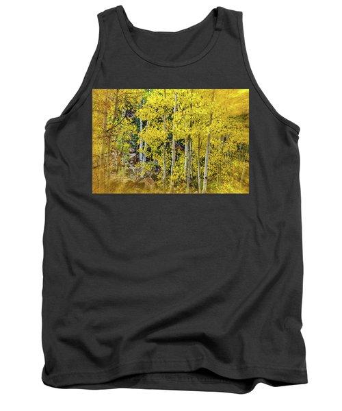 Tank Top featuring the photograph Aspen Autumn Burst by Bill Gallagher