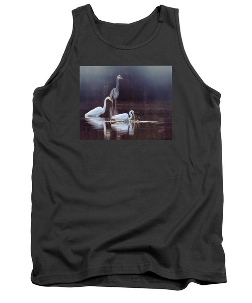 Tank Top featuring the photograph At The Fishing Pond by Susi Stroud