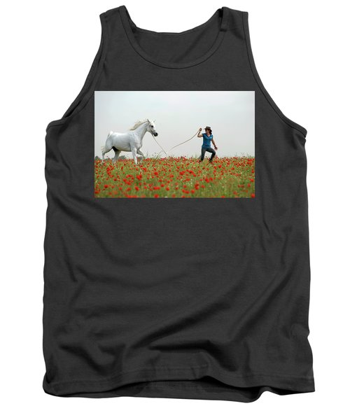 At The Poppies' Field... 2 Tank Top by Dubi Roman