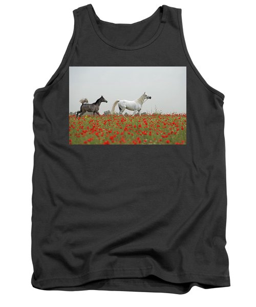 At The Poppies' Field... Tank Top by Dubi Roman