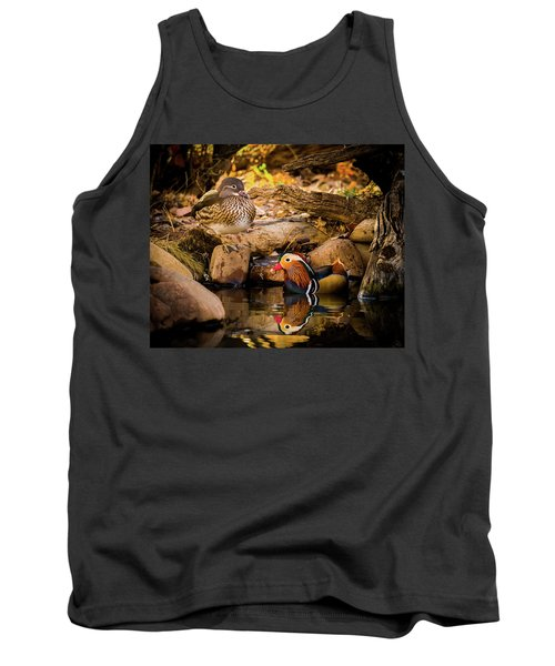 At The Waters Edge - Mandarin Ducks Tank Top
