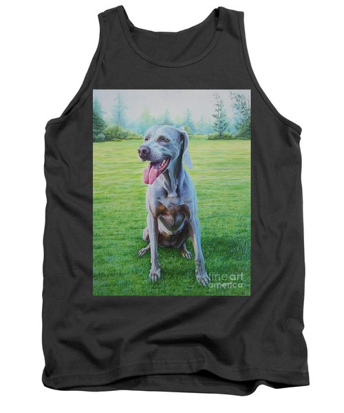Tank Top featuring the painting Athena by Mike Ivey