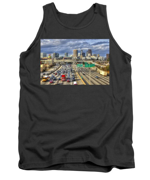 Fleeing South Atlanta Cityscape Skyline Tank Top