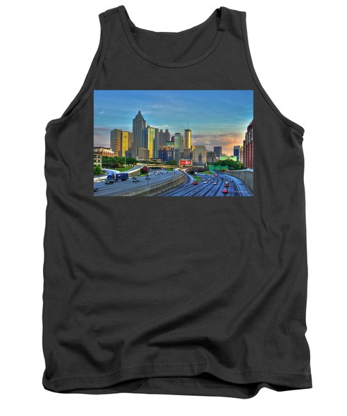 Atlanta Coca-cola Sunset Reflections Art Tank Top