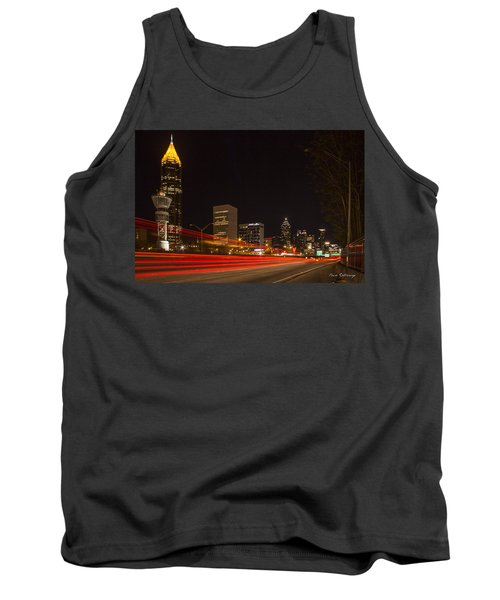 Atlanta Drive By Shooting Atlanta Night Art Tank Top
