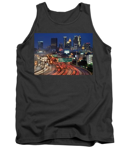 Atlanta Heavy Traffic Tank Top by Frozen in Time Fine Art Photography