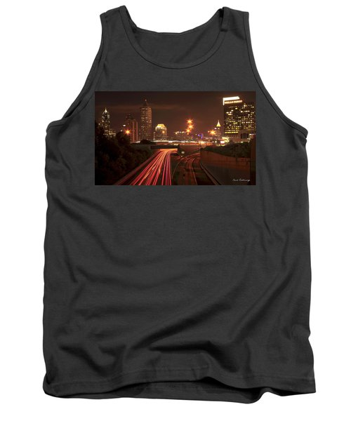 Atlanta Nite Works Cityscape Night Art Tank Top