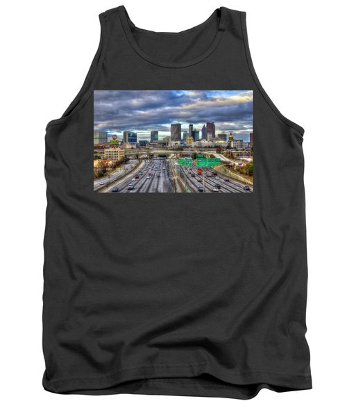 Atlanta Skyline Cityscape 3 Downtown Atlanta Art Tank Top
