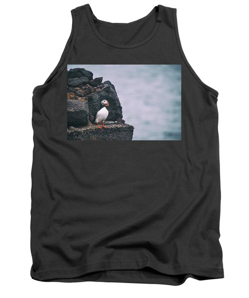 Atlantic Puffin Tank Top by Happy Home Artistry