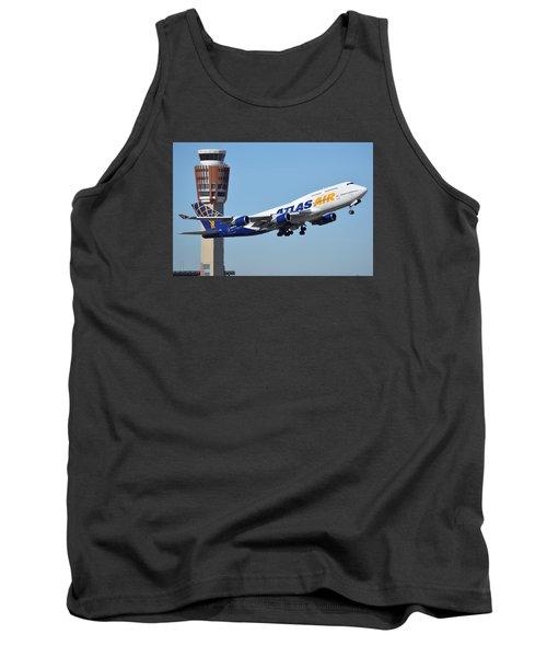 Atlas Air Boeing 747-446 N465mc Phoenix Sky Harbor January 12 2015 Tank Top by Brian Lockett