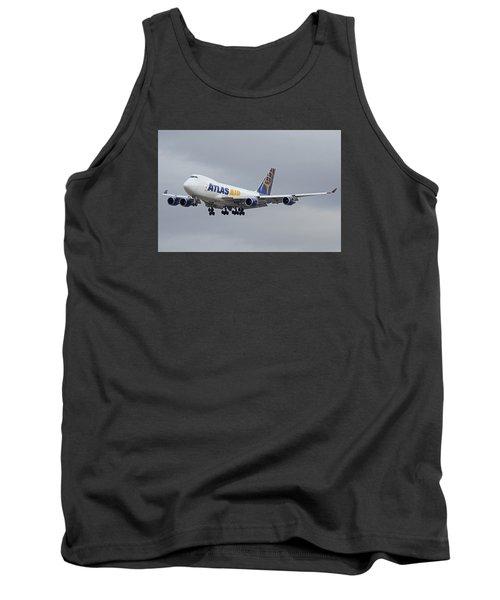 Atlas Air Boeing 747-47uf N415mc Phoenix Sky Harbor December 23 2015  Tank Top by Brian Lockett