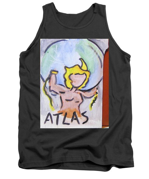 Tank Top featuring the painting Atlas by Loretta Nash