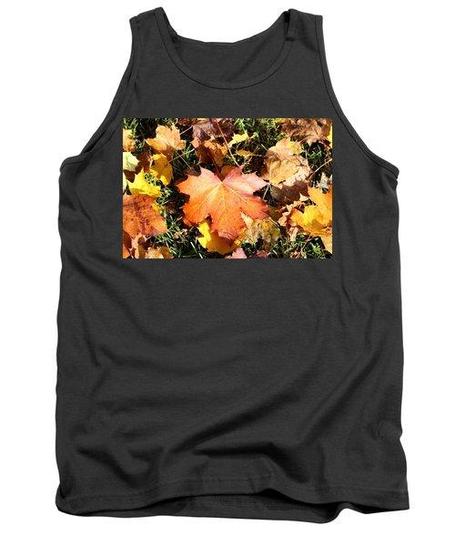Autumn  Orange  Tank Top