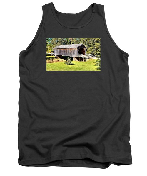 Auchumpkee Creek Covered Bridge Tank Top by James Potts