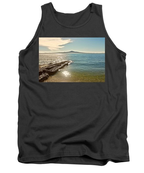 Auckland Harbour On A Winter's Afternoon Tank Top