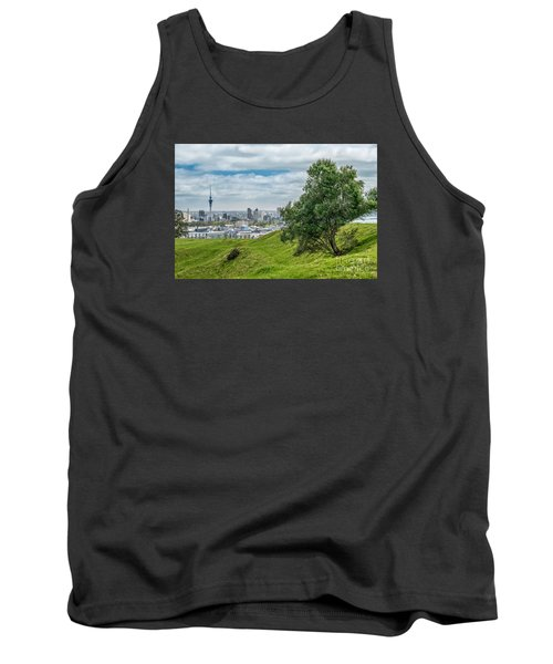 Auckland Skyline Tank Top by Martin Capek