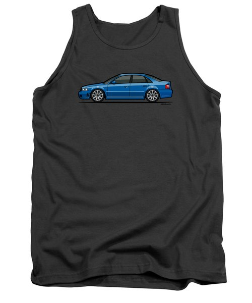Audi A4 S4 Quattro B5 Type 8d Sedan Nogaro Blue Tank Top