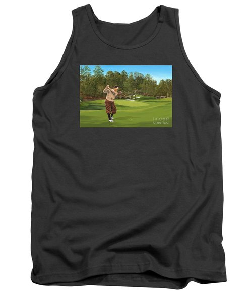 Augusta 11 And 12th Hole Bobbyjones Tank Top by Tim Gilliland