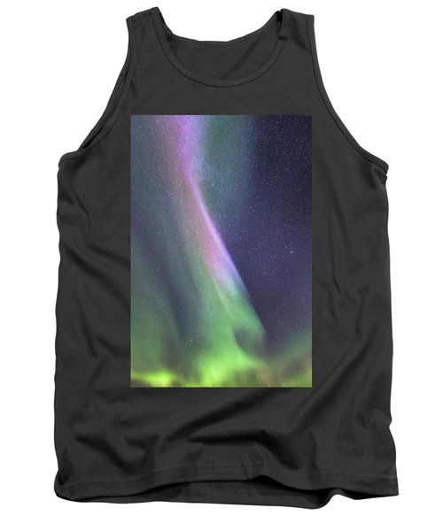 Tank Top featuring the photograph Aurora Abstract by Hitendra SINKAR