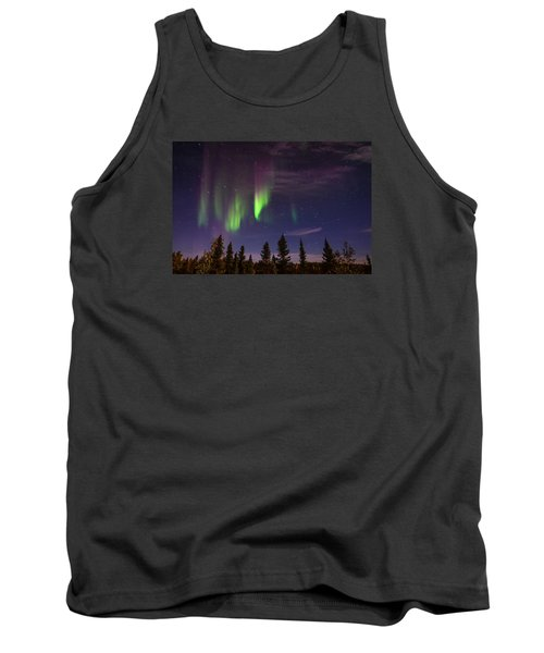 Tank Top featuring the photograph Aurora Nights by Serge Skiba