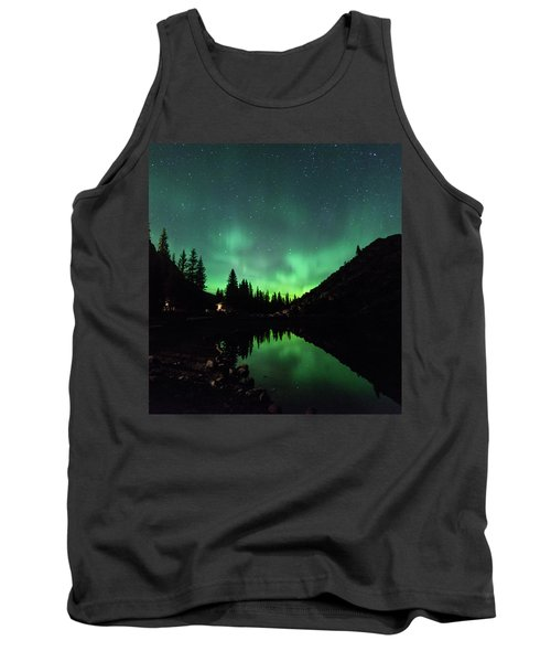 Aurora On Moraine Lake Tank Top by Alex Lapidus