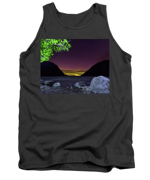 Aurora Over Lake Willoughby Tank Top by Tim Kirchoff