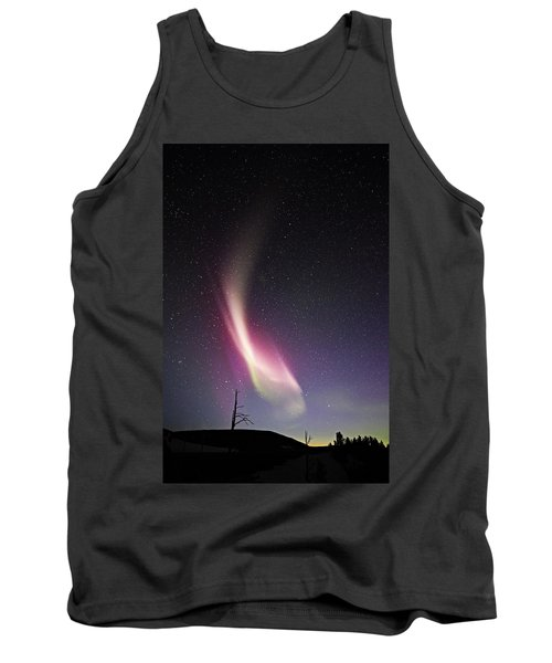 auroral Phenomonen known as Steve 3 Tank Top