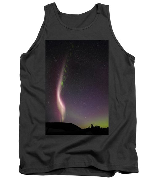 Auroral Phenomonen Known As Steve With A Large Meteor Tank Top