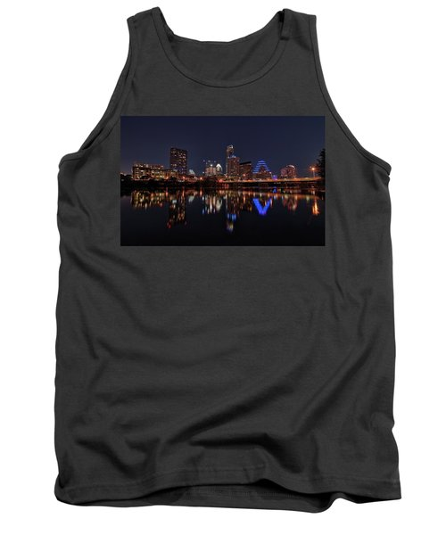 Austin Skyline At Night Tank Top by Todd Aaron