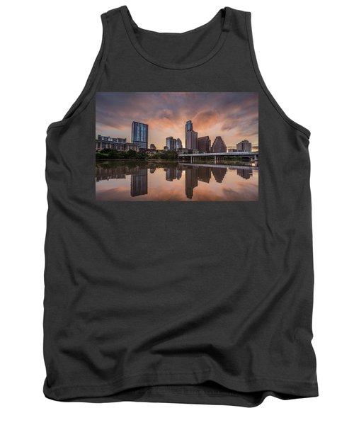 Austin Skyline Sunrise Reflection Tank Top