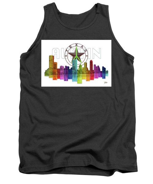 Austin Texas Skyline Tank Top