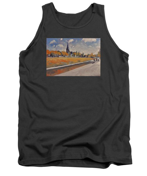 Tank Top featuring the painting Autumn Along The Griend by Nop Briex