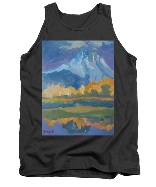 Tank Top featuring the painting Autumn At Mt. Moran by Francine Frank