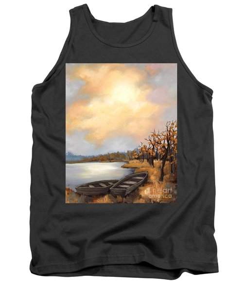 Autumn Boats Tank Top by Inese Poga