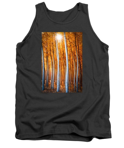 Tank Top featuring the photograph Autumn Canopy Burst by Dan Mihai