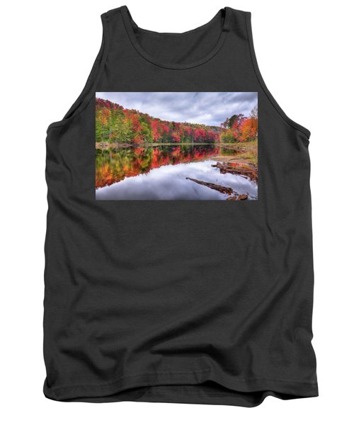 Tank Top featuring the photograph Autumn Color At The Pond by David Patterson