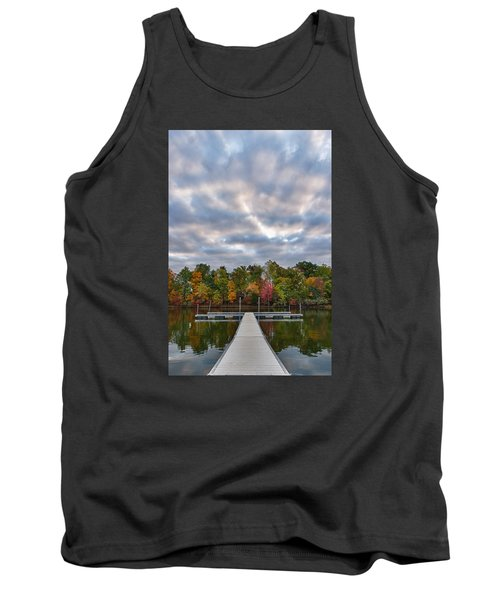 Autumn Colors At The Lake Tank Top