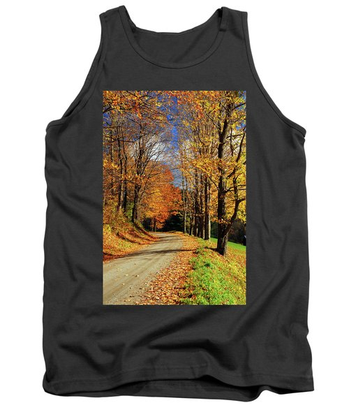 Autumn Country Road Tank Top