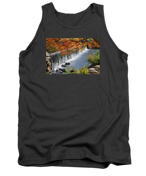 Tank Top featuring the photograph Autumn Dam by Debbie Stahre