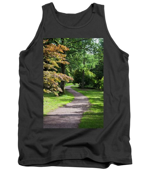 Tank Top featuring the photograph Autumn Forest Path by Scott Lyons
